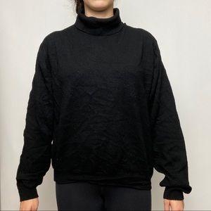 Marks and Spencer black turtleneck sweater
